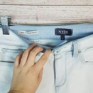 NYDJ Jeans - NYDJ Light Wash Ami Skinny Ankle Raw Hem Jeans